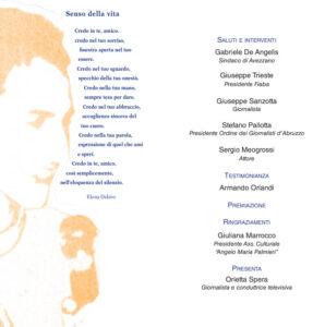 Giovedì cerimonia di premiazione dei vincitori del Premio giornalistico Angelo Maria Palmieri