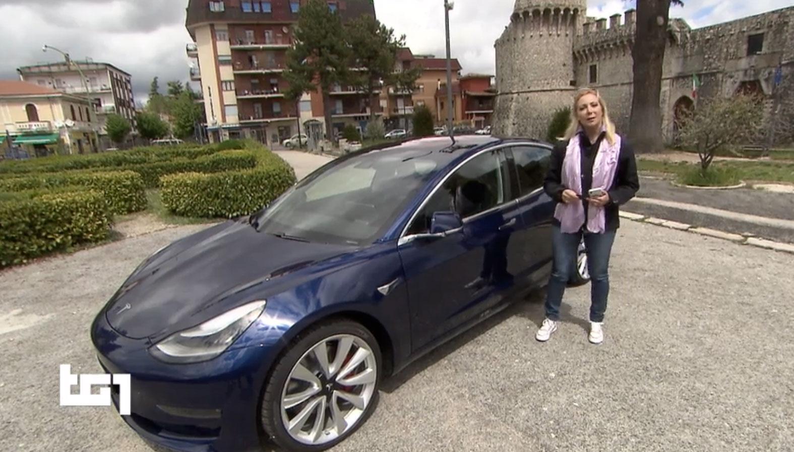 Tg1 Motori sceglie la Marsica per presentare la Tesla MODEL 3, l'auto elettrica più attesa del 2019