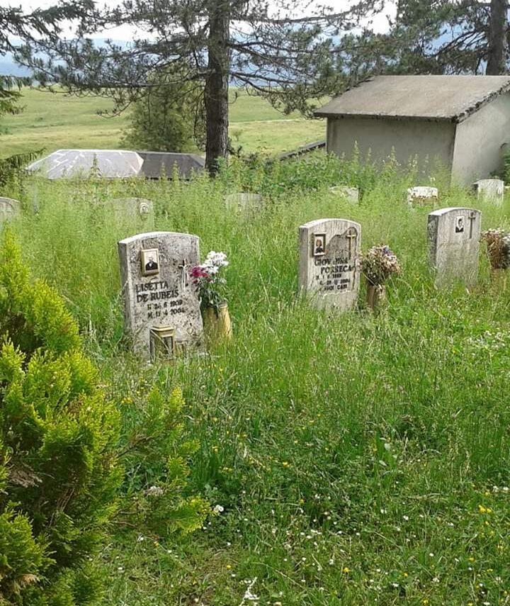 """Erba alta al cimitero di Pescasseroli nessuno la taglia """"speriamo negli animali"""""""