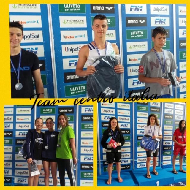 Nuoto a Riccione, ottimi risultati per la squadra della Team Centro Italia