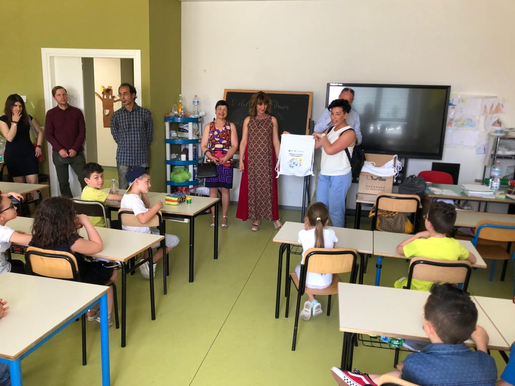 """Gli alunni del """"Mazzini Fermi"""" vincono il concorso """"Disegna la sporta"""" diTekneko"""