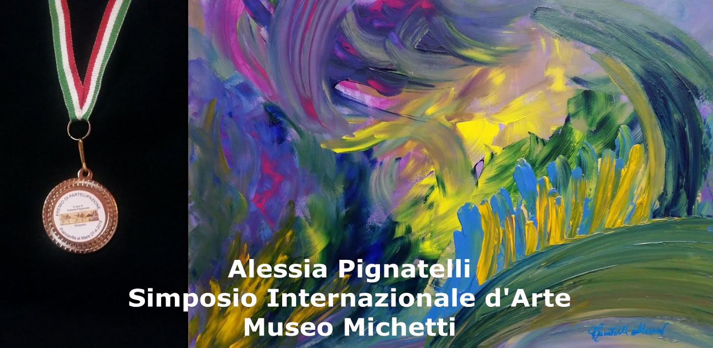 L'artista Alessia Pignatelli di Pescina al Simposio Internazionale d'Arte