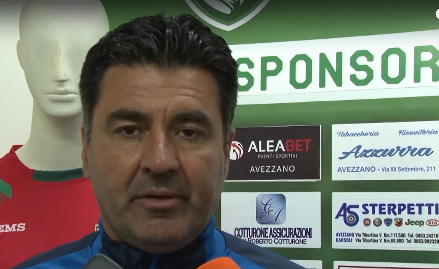 Non sarà più Colavitto l'allenatore dell'Avezzano. Il tecnico lascia per differenza di vedute con la dirigenza