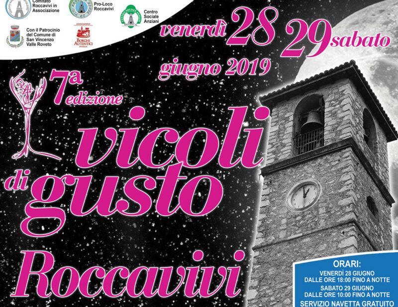 Torna Vicoli di Gusto: manifestazione eno-gastronomica nelle cantine del borgo di Roccavivi