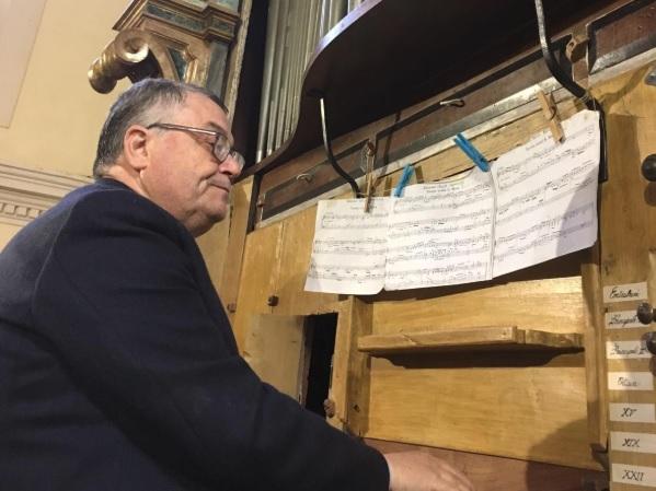 Magistrale concerto d'organo ad Ortona Dei Marsi del maestro Orante Bellanima
