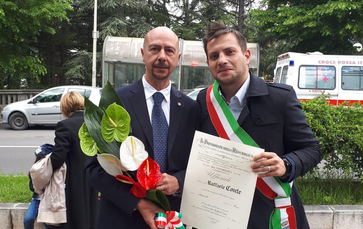 Onorificenza al merito della Repubblica Italiana per il marsicano Raffaele Conte