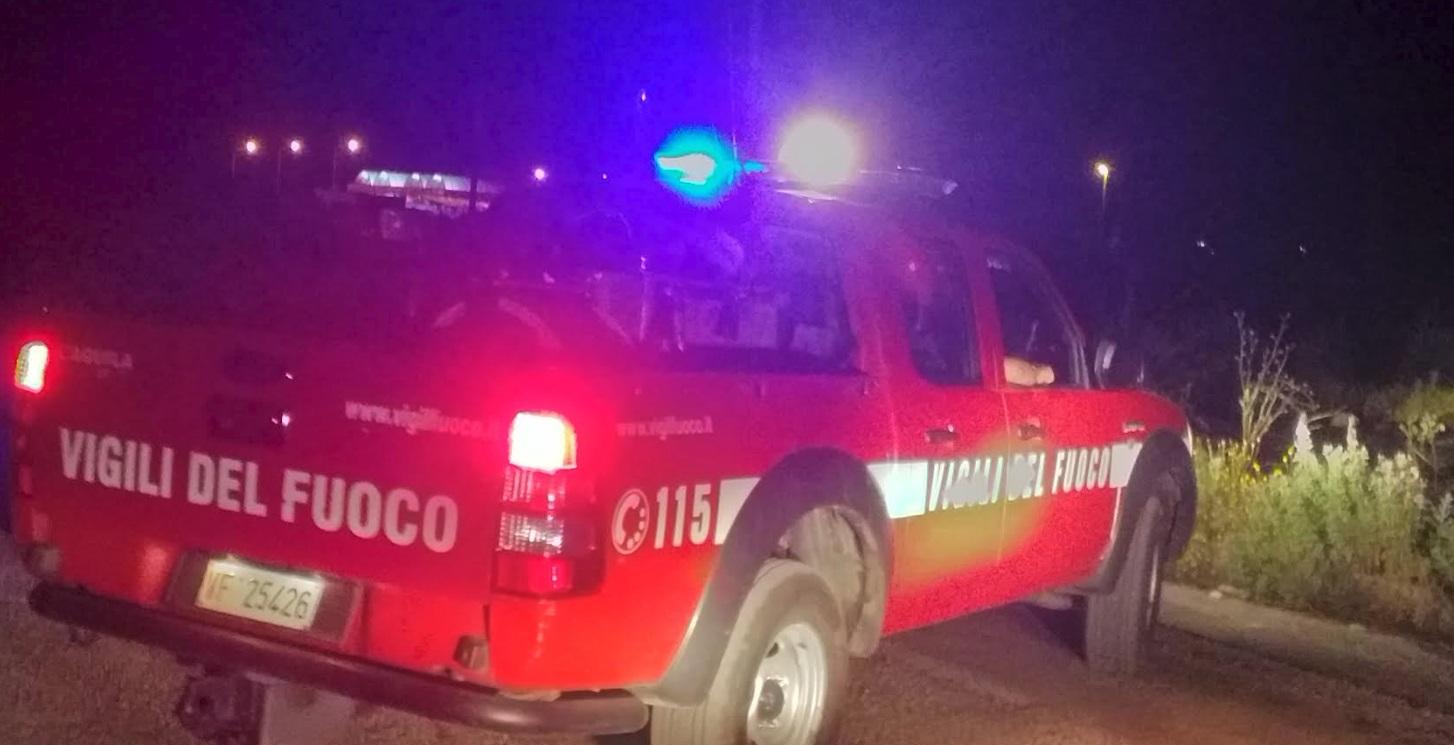 Incendio nella zona industriale di Ortucchio