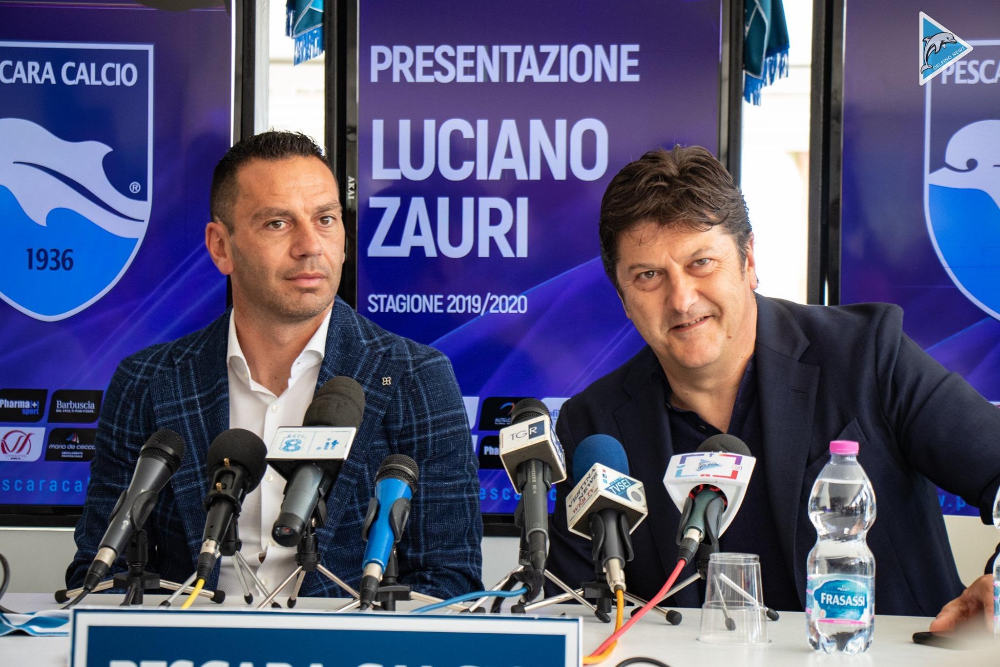 Ufficiale, presentato Luciano Zauri. L'ex difensore pescinese è il nuovo allenatore del Pescara.