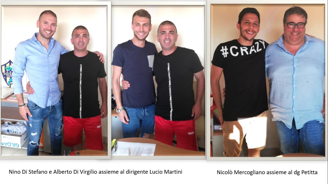 L'ASD Pucetta ha tre nuovi giocatori: Di Stefano, Di Virgilio e Mercogliano dal Paterno