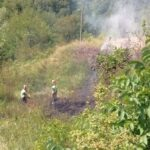 Protezione Civile di Tagliacozzo e Vigili del Fuoco per domare gli incendi nella Marsica