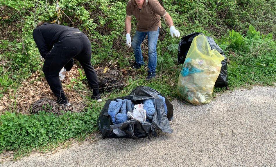 Giornata ecologica a San Pelino di Avezzano,Tekneko e associazioni in campo per ripulire il paese