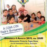 A Cena con Padre Beniamino, l'evento di beneficienza organizzato ad Avezzano