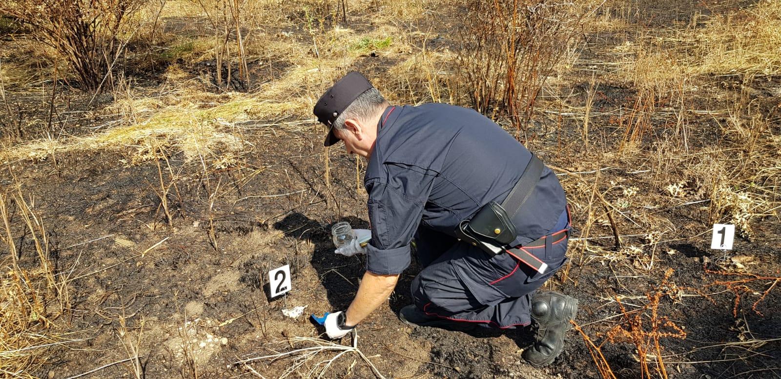 Incendio di Pescina, i Carabinieri Forestali denunciano il responsabile, rischia fino a cinque anni di carcere