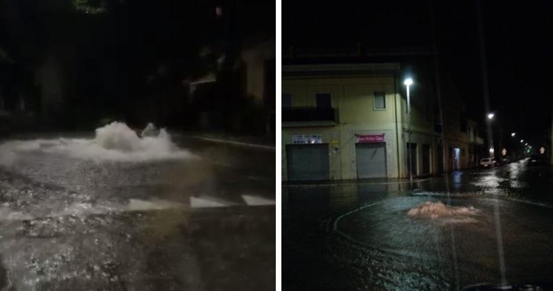 Bomba d'acqua sulla Marsica, Avezzano saltano tombini e si allagano le strade (video e foto)