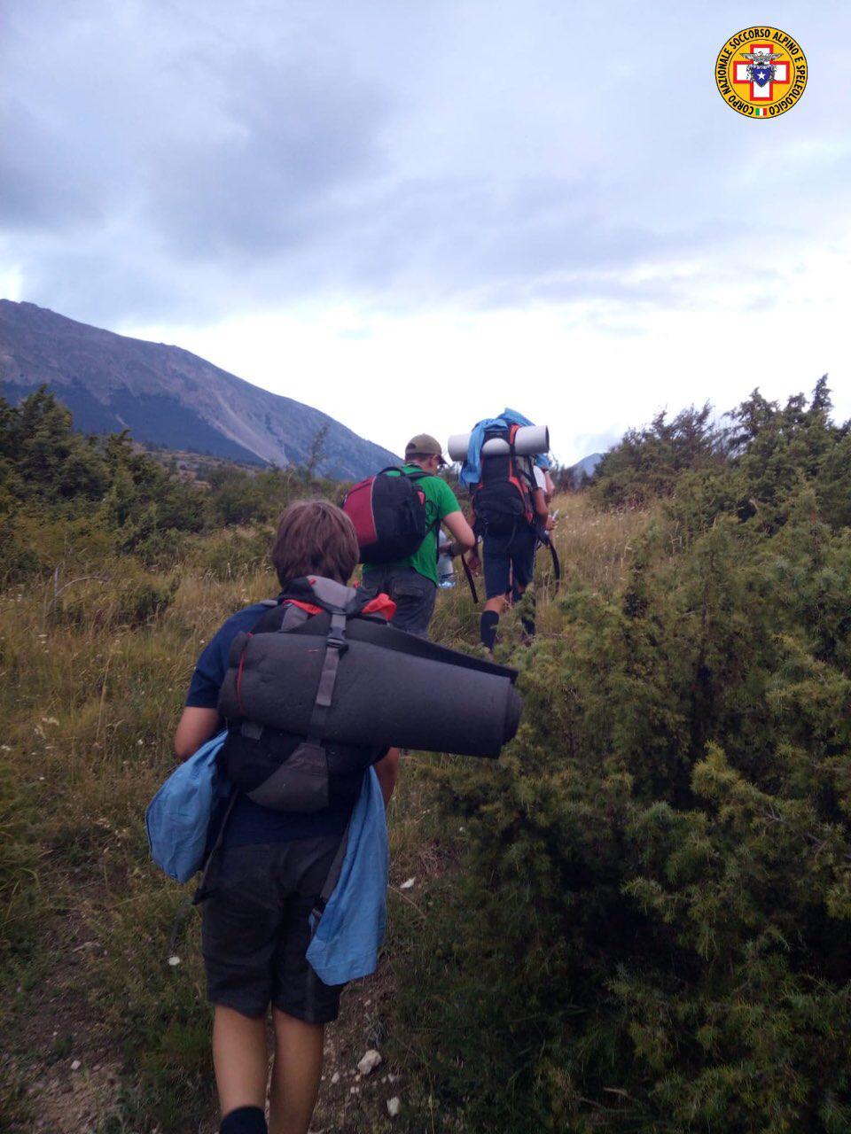Gruppo di scout in difficoltà sulla Majella, recuperati dal Soccorso Alpino