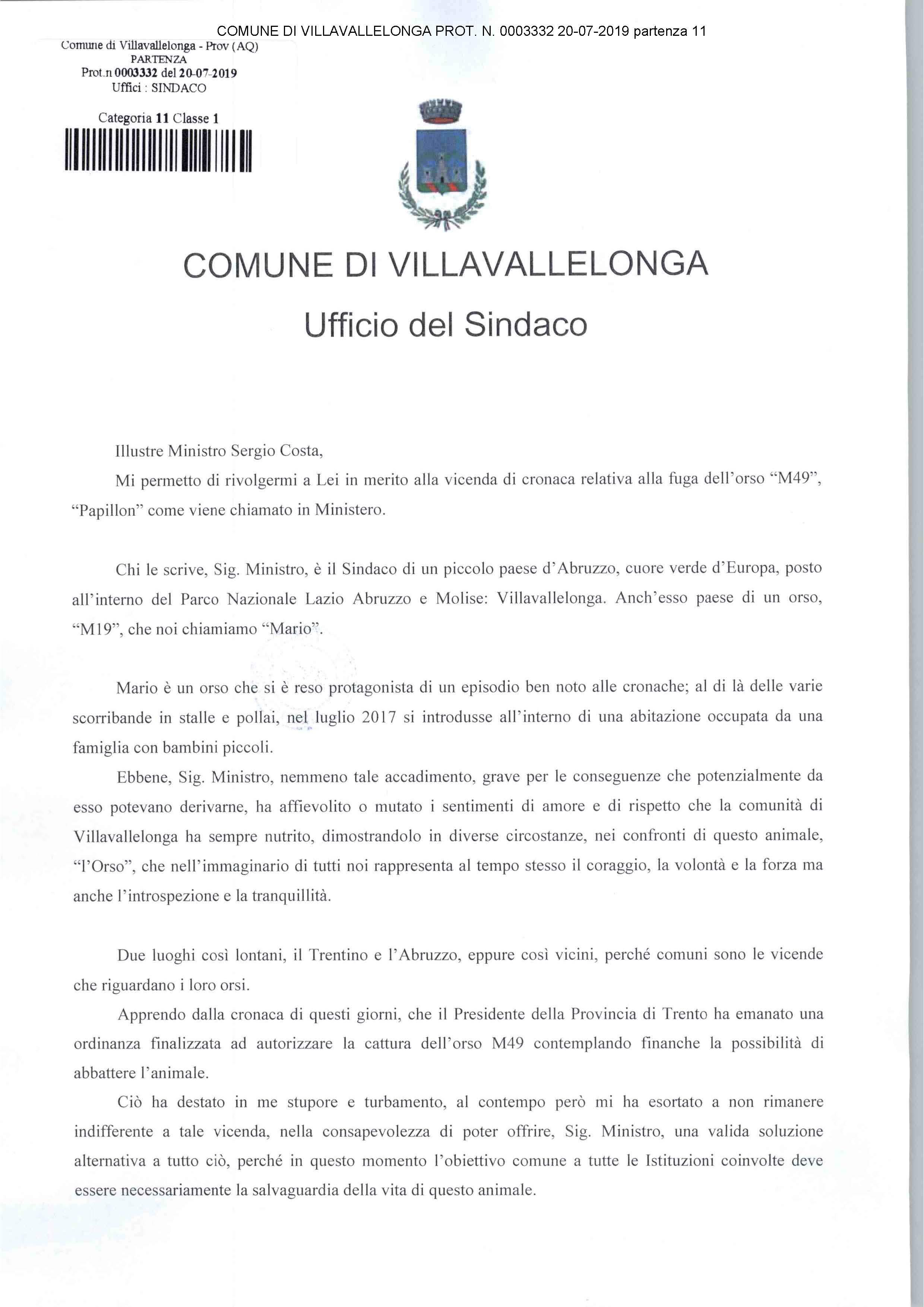 L'orso Papillon deve vivere, il comune di Villavallelonga mette a disposizione la propria area faunistica per salvare M49