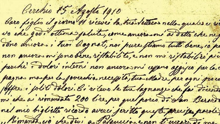 Le lettere di un contadino di Cerchio, materiale fondamentale per la storia del nostro territorio, nel libro di Constance Sancetta