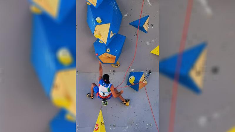 Grande risultato del marsicano Federico Di Felice ai Mondiali di Paraclimbing