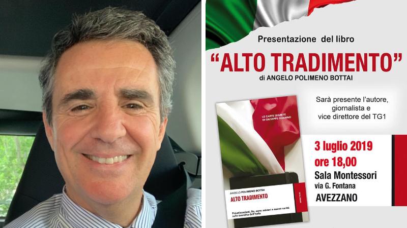 """""""Alto tradimento"""": Il FSI porta ad Avezzano Polimeno Bottai per presentare l'ultimo libro"""