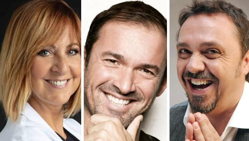 Tre grandi comici di The Comedy Bus a Lungo le Antiche Rue