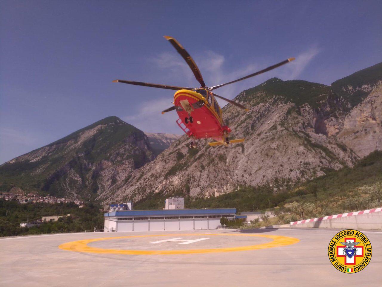 Numerosi interventi ieri per il Soccorso Alpino Abruzzese e per le eliambulanze del 118 dell'Aquila e Pescara