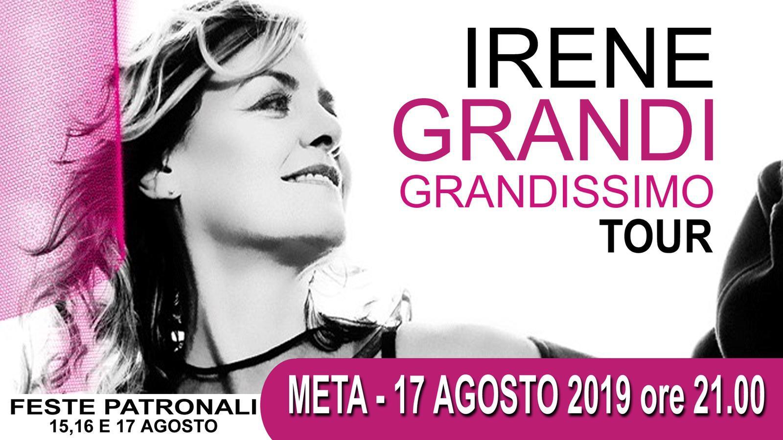 Concerto di Irene Grandi a Meta