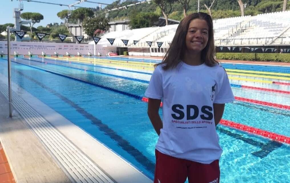 Medaglia d'argento per l'atleta Claudia Di Passio della Pinguino Nuoto