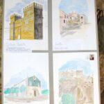 Mostra di quadri di orante ventura nel castello Piccolomini di Ortucchio