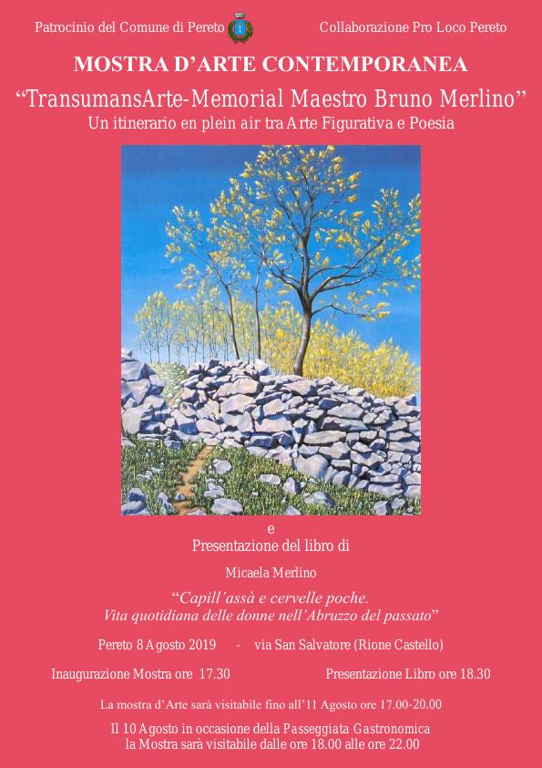 """A Pereto al via """"TransumansArte-Memorial Maestro Bruno Merlino"""" e presentazione del libro di Micaela Merlino"""