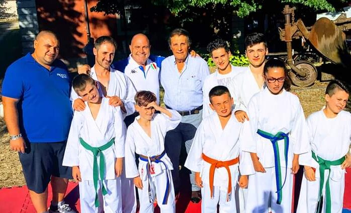 Il Presidente nazionale del settore karate della Fijilkam fa visita ai giovani campioni nella Settimana Marsicana