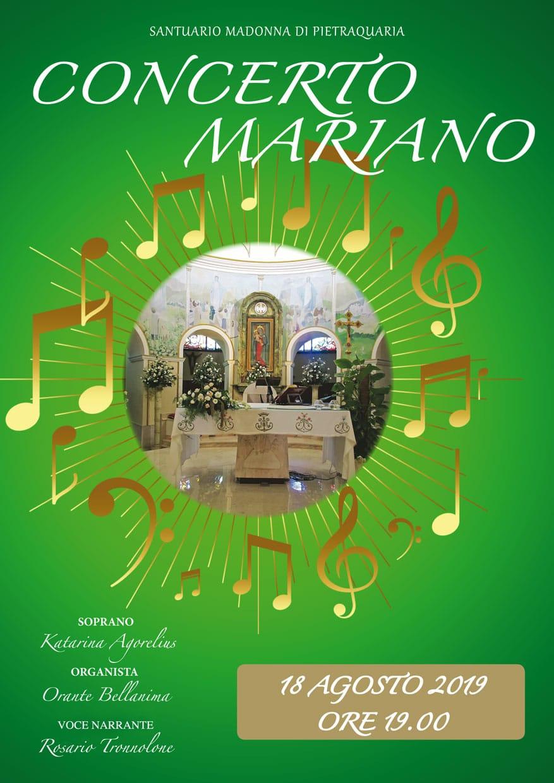 Concerto Mariano al Santuari della madonna di Pietraquaria