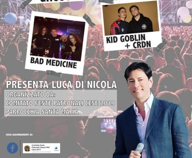 """Arriva """"Cese Music Live 2019"""", passerella per giovani artisti presentata da Luca Di Nicola"""