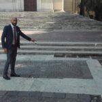 Incuria della pavimentazione diPiazza Risorgimento, Di Cintio chiede intervento del commissario