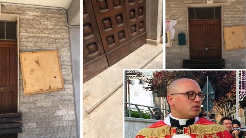 Tolleranza zero di Don Lello per i vandali della chiesa di Paterno