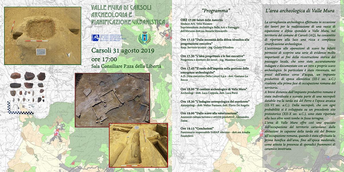 Importanti scoperte archeologhe in Valle Mura di Carsoli illustrate in un convegno