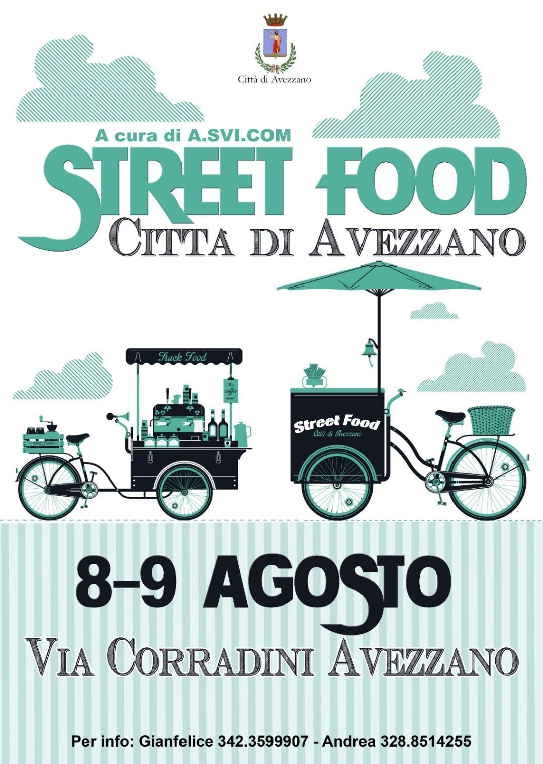 """Al via lo""""Street Food Città di Avezzano"""" organizzato dall'Associazione Confeuro"""