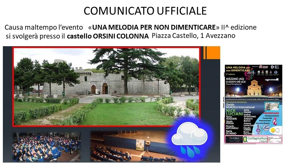 Al castello Orsini Colonna una melodia per non dimenticare, le forze di polizia ricordano le vittime dei terremoti