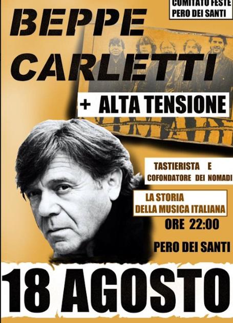Beppe Carletti in concerto a Pero dei Santi