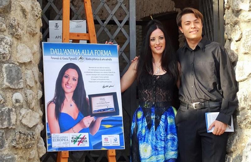 """Alessia Pignatelli e Andrea Petricca hanno inaugurato il tanto atteso evento """"Dall'anima alla forma"""""""