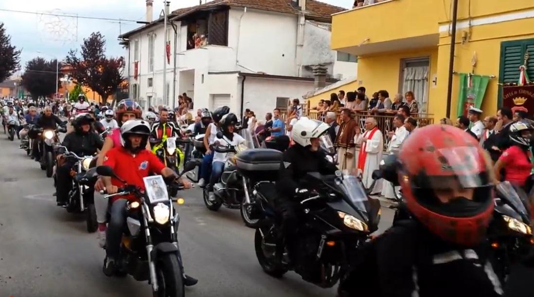 Gemellaggio tra San Benedetto dei Marsi e Corinaldo, una sfilata di motociclette in omaggio a Santa Maria Goretti