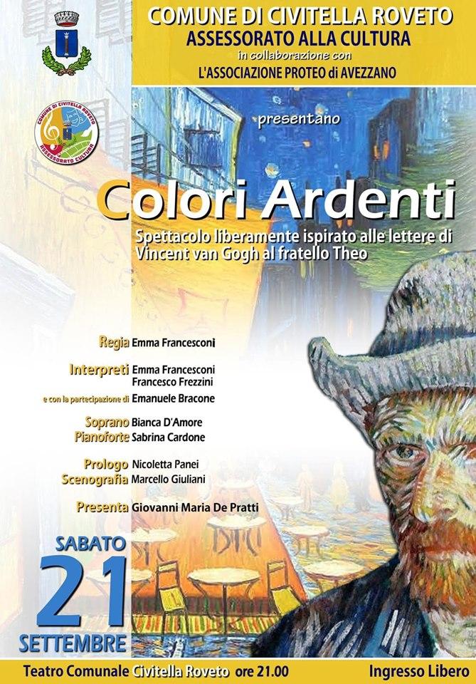 """Spettacolo teatrale """"Colori Ardenti"""" al teatro comunale di Civitella Roveto"""