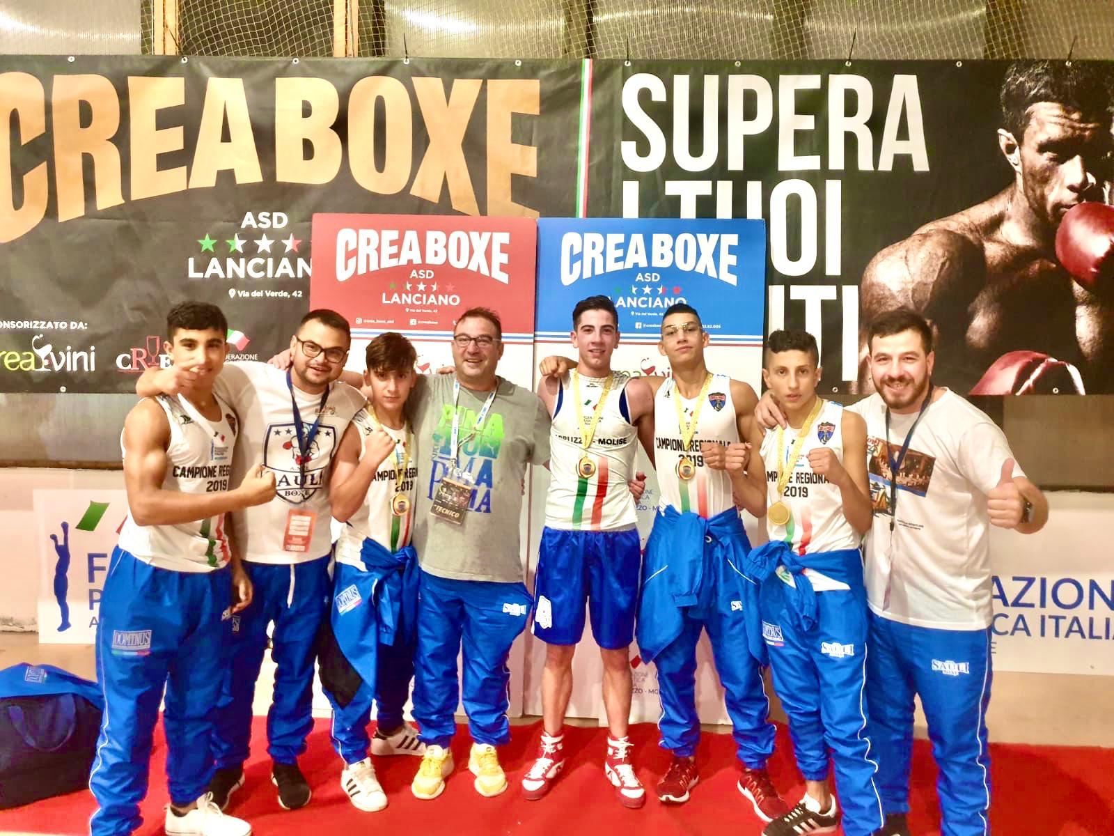 La Sauli Boxe di Civitella Roveto stravince, 5 campioni e 5 medaglie