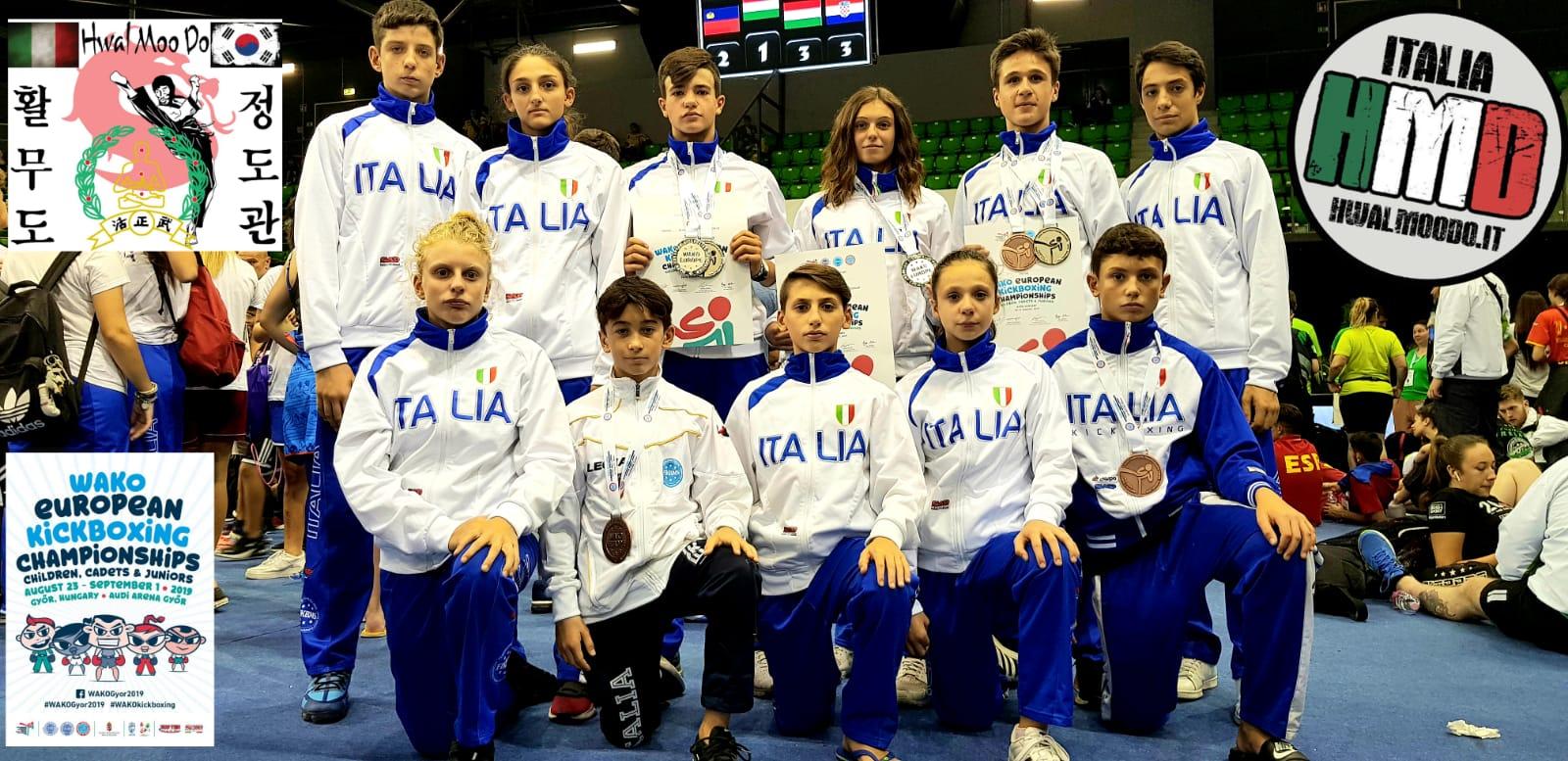 Atleti marsicani medagliati della nazionale Italiana di Kick Boxing ai campionati Europei WAKO Cadetti e Junior Gyor