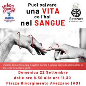 L'AVIS di Avezzano in Piazza Risorgimento per raccogliere il sangue