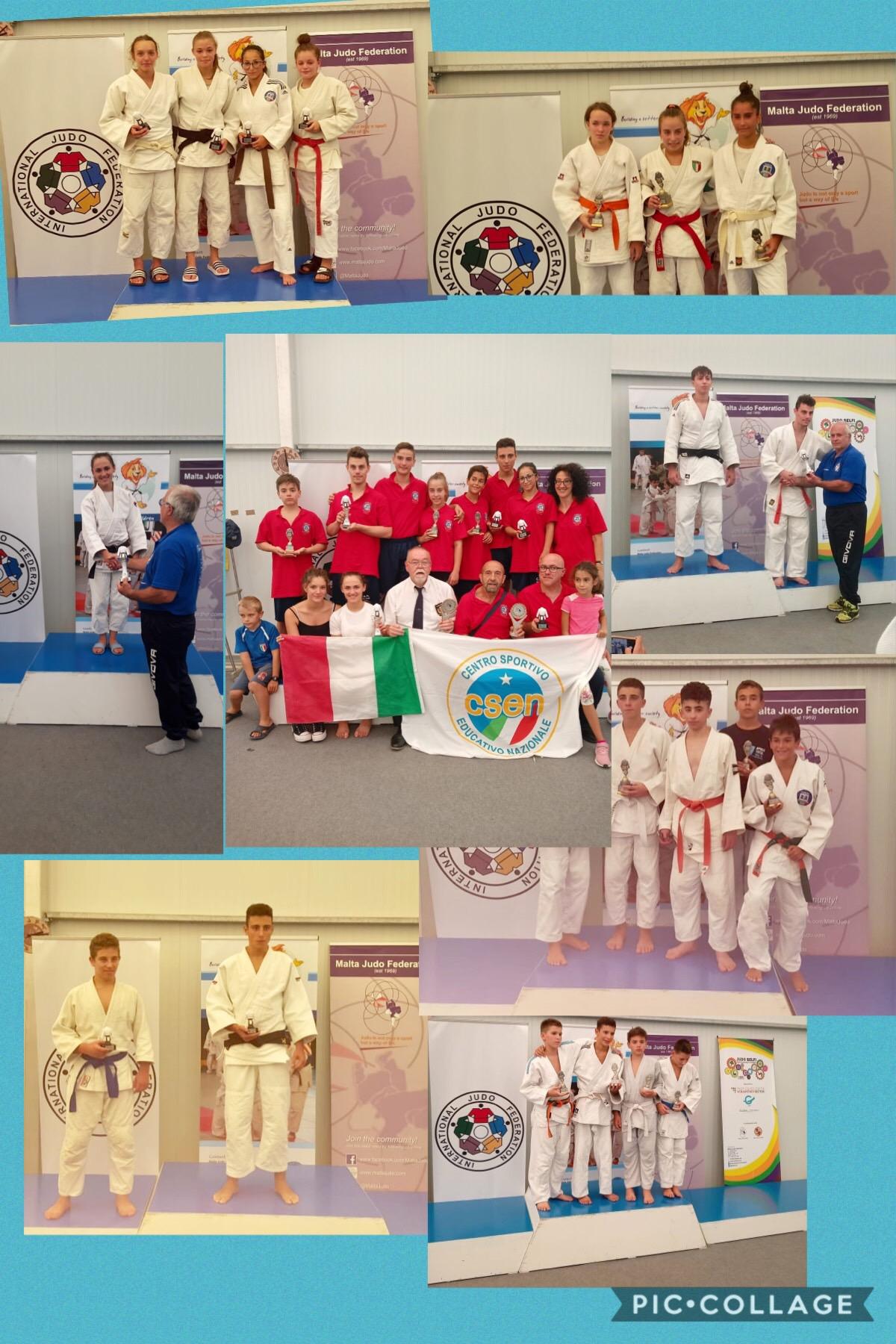 Impresa della Rappresentativa Regionale C.S.E..N. di Judo agli Internazionali di Malta