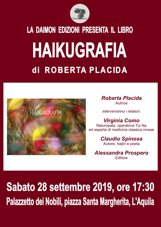 Approda a L'Aquila il primo libro di Roberta Placida,Haikugrafia