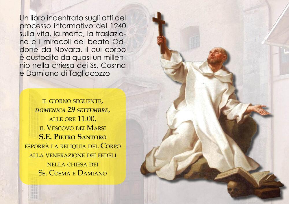 """Presentazione del libro""""Vita, Miracoli e Culto del Beato Oddone da Novara,Monaco Certosino"""" del Prof. Lucio Meglio"""