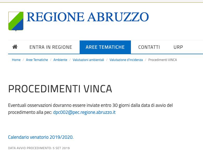 """Stazione Ornitologica Abruzzese """"Caccia, è caos. Regione propone apertura il 15 settembre nonostante il TAR"""""""