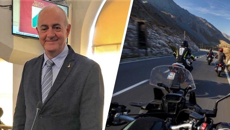"""Simone Angelosante avvisa tutti i motociclisti """"La statale da Celano ad Ovindoli non é un circuito di velocità"""""""