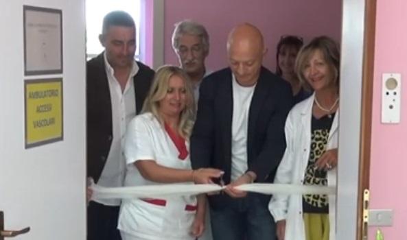 Inaugurato il nuovo ambulatorio per gli accessi venosi periferici all'Ospedale Civile di Avezzano (Interviste)